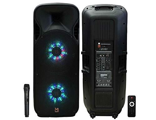 Mr. Dj LETSJUMP Dual 15' 5000W Max Power PA DJ Speaker Karaoke Bluetooth