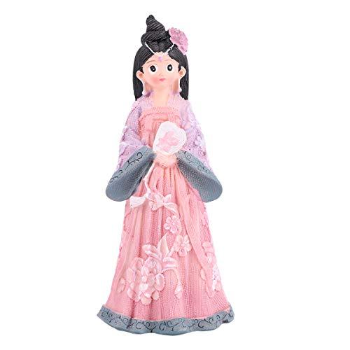 PRETYZOOM Figurinas de juguete chino Hanfu niñas adorno para interiores y exteriores (tamaño pequeño, rosa y morado)