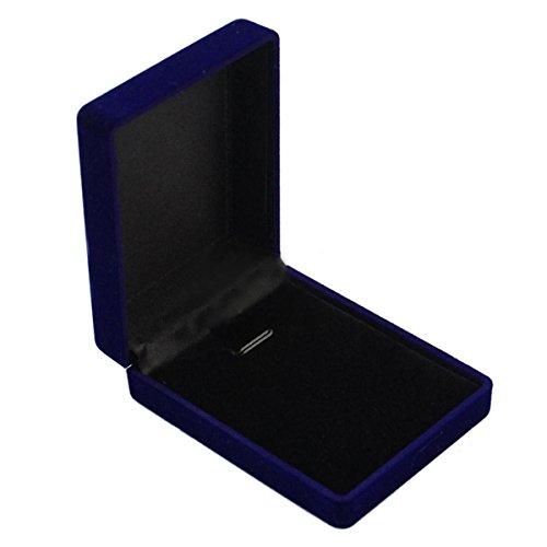 EAGLESTIME Vintage Azul Terciopelo Joyería Caja Regalo para Anillo Pulsera Collar