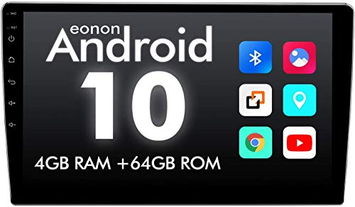2021 Double Din Octa-core 4GB+64GB Car Stereo, Eonon 10.1 Inch Android 10 Car Radio GPS Navigation Built-in Apple Car Auto Play& DSP Supports Android Auto/Fast Boot/Backup Camera- 2021 GA2185