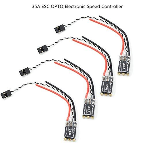ZHITING 4pcs 35A ESC OPTO elektronischer Drehzahlregler 2-6S Brushless für FPV Multicopter Quadcopter