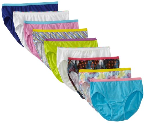 Hanes Girls' Multipack, Assorted 9 Pack, 4