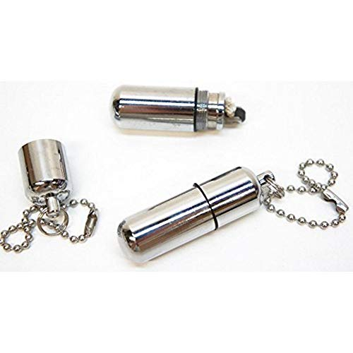 Uteruik Mini Kapsel-Feuerzeug nachfüllbar Öl-Feuerzeug Schlüsselanhänger Zigarettenanzünder