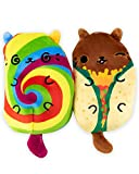 Cats vs Pickles - Festicat & Taco Cat - 2-Pack - 4' Cute Cuddly Collectible Bean Plush Toy - are You...