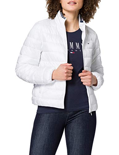 Tommy Jeans Damen TJW QUILTED ZIP THROUGH Jacke, Weiß, Large