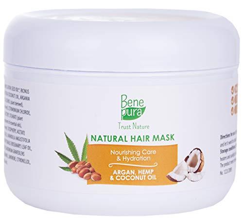 Natürlich tiefe Konditionierung Kokos-Haarmaske 250 ml - für Trockenbeschädigtes und Dickes haar...