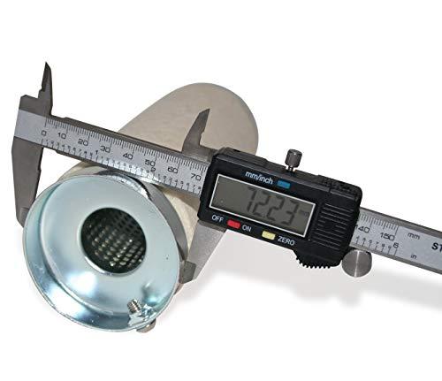 KUSTOM66 TH010093 dB-Killer 73mm x 207mm Universal dB-Eater für 3 Zoll Auspuff