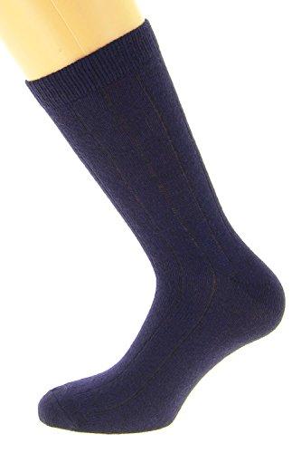 Chaussettes fil d'Ecosse (42/44, bleu marine)