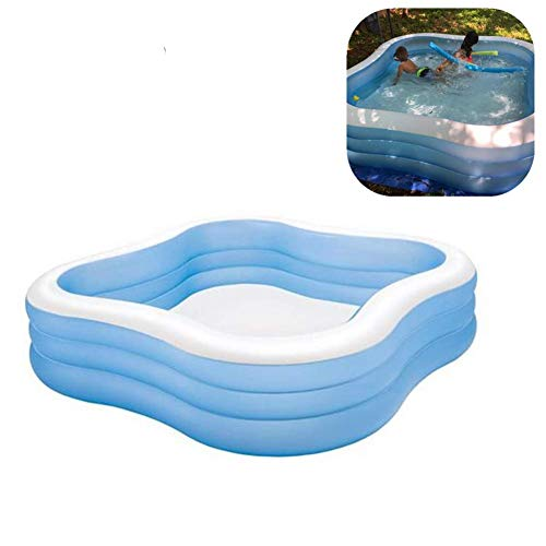NAKELUCY Family Inflatable Swimming Pool, Kids Inflatable Swimming Blow Up Pool, Kiddie Pools Swim Center For Kids,Adults Garden and Backyard Play, 229 × 229 × 56cm