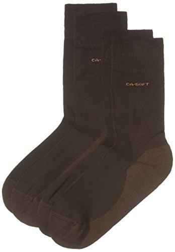Camano Unisex - Erwachsene Socke 2-er Pack, 3652, Gr. 39-42, Braun (17 dark brown)
