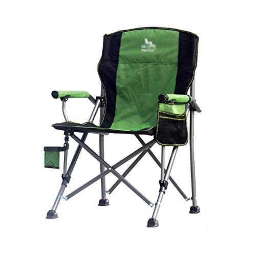 WXIANG Faltstuhl High Back Folding Camping Chair Schwere Tragbare Übergroße Stuhl Tragbare Liegestuhl Für Camping & Im Freien Tragbar (Color : 4)