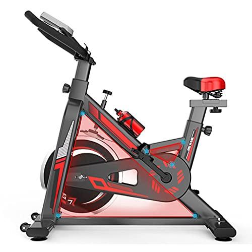 WOERD Bicicleta de Spinning, Bicicleta Fitness con Volante Inercia Silenciosa, Bicicletas de Ejercicio Casa con Soporte para Tableta, Manillar y Resistencia Ajustable, Carga Máxima 150 Kg