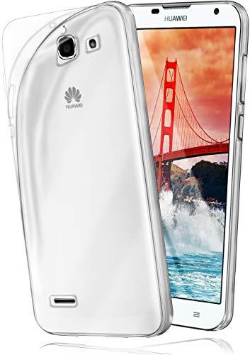 moex Aero Hülle kompatibel mit Huawei Ascend G730 - Hülle aus Silikon, komplett transparent, Klarsicht Handy Schutzhülle Ultra dünn, Handyhülle durchsichtig einfarbig, Klar