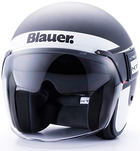 Blauer HT Casque Pod Stripes XL BLACK-WHITE-RED MATT