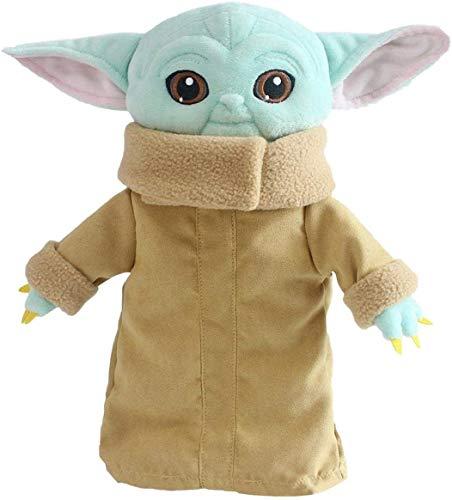GJH Baby Yoda Peluche, Mini Baby Yoda Muñeco Navidad, Muñeco Baby Yoda Animatronic, Bebe Yoda Interactivo Peluche - Star Wars, Figura Peluche de 30 cm para Niños (Verde, 12 Pulgadas)