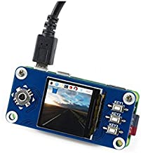 1.3inch IPS LCD Display HAT Module 240x240 Pixels SPI Interface with Embedded Controller Compatible with Raspberry Pi Zero/Zero W/Zero WH/2B/3B/3B+ Wide Viewing Angle