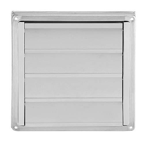 Conducto de ventilación de aire, acero inoxidable duradero de 100 mm, ventilación de aire, secadora cuadrada, extractor, salida de ventilador, accesorios de parrilla antióxido
