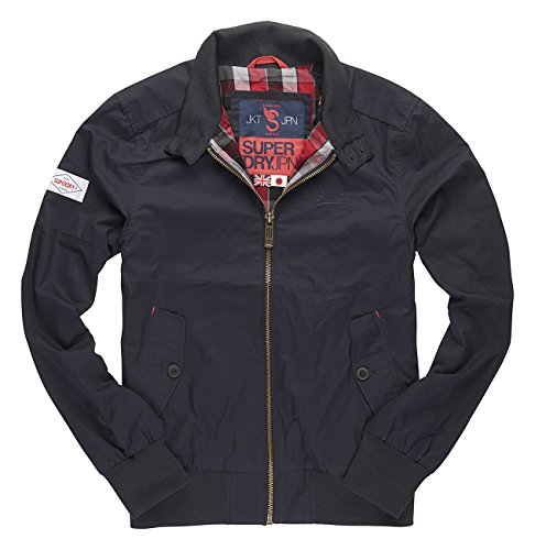 Superdry Men's Longhorn Harrington Jacket, Black(Ink 34T), S
