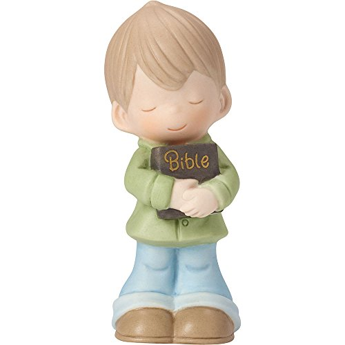 Precious Moments 162021 Let His Words Guide You, Bisque Porcelain Figurine, Boy