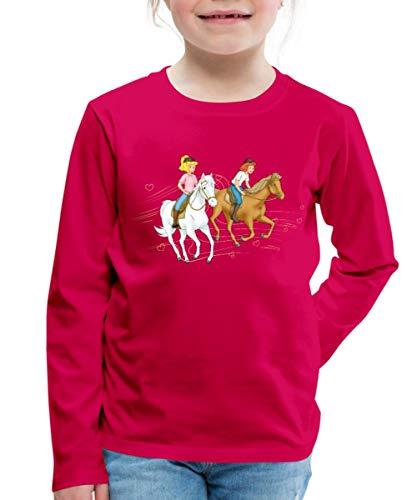 Bibi Und Tina Ausritt Mit Amadeus Und Sabrina Kinder Premium Langarmshirt, 110-116, Dunkles Pink