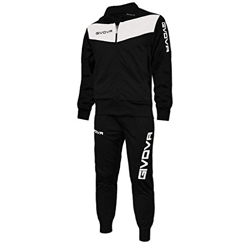 Givova Visa Chandal, Hombre, Multicolor (Nero/Bianco), 2XL
