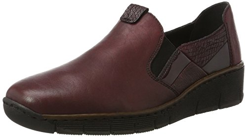 Rieker Damen 53754 Slipper, Rot (Wine/Bordeaux/Vinaccia/Bordeaux/Wine), 39 EU