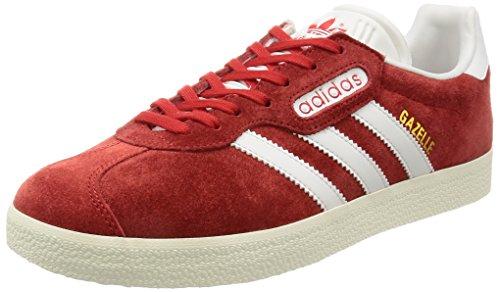 Adidas Herren Gazelle Sneaker, Rot (Red/Vintage White/Gold Metallic), 45 1/3 EU