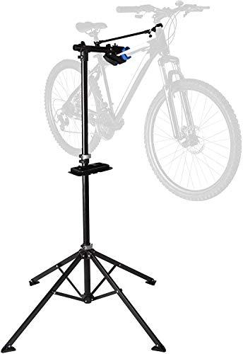 STS Cavalletto Universale per Manutenzione Bici Supporto Regolabile 140-200cm, Riparazione e Montaggio Bicicletta Stand da Max 50Kg