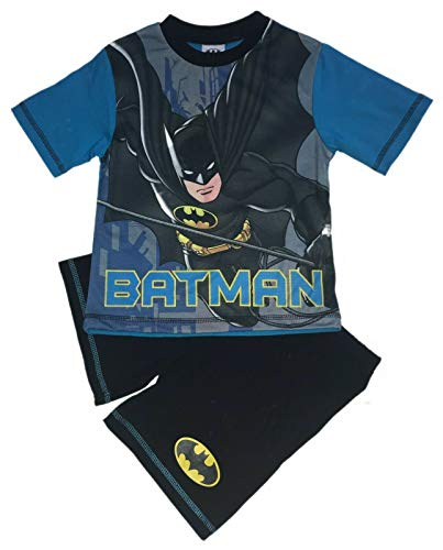 Batman DC Pijama Corto para niños 100% algodón Negro Negro