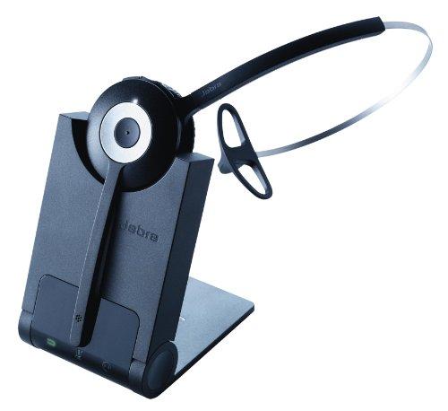Jabra Pro 930 MS Mono DECT-Headset mit USB für PC/Softphones, Noise-Cancelling, 120m Reichweite, inkl. Ladeschale, Skype for Business-zertifiziert