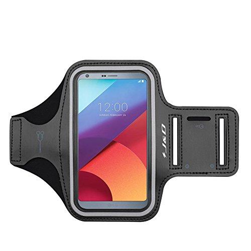 J&D Compatible para LG K30 (2019)/LG G6/LG G6 Plus/LG K40/LG K20 Brazalete, Brazalete Deportivo para LG G6, Ranura para Llaves, Conexión Auriculares Mientras Ejercicios y Carreras - Negro