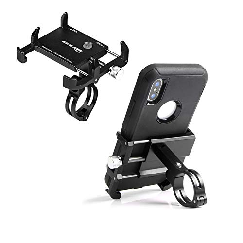 GUB Thick Case Design Bike & Motorcycle Phone Mount Handlebar Holder Adjustable Compatible with iPhone XR Xs 7s 8 Plus,Compatible with SamsungS7/S6/Note5/4,Any Phones with Thick Phone Case (Black)