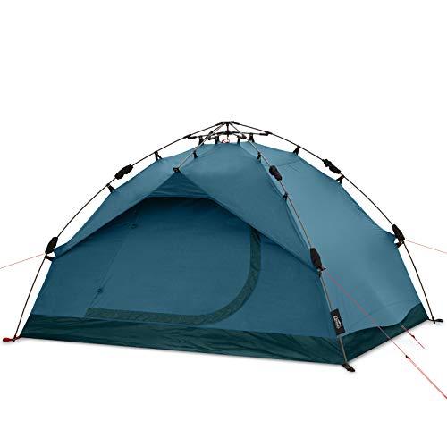 Qeedo Quick Pine 3 Campingzelt, Sekundenzelt mit Quick-Up-System - Lakeblue