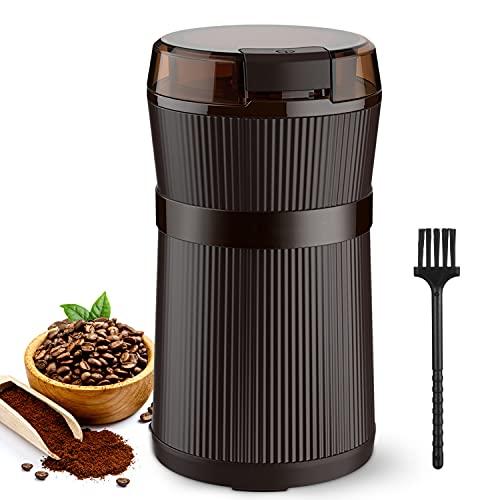 Kaffeemühle Elektrische, Coffner 200W Tragbare Waschbare Elektrische Kaffeebohnen und Gewürzmühle mit Edelstahlklingen und Bürste Getreidemühle Grinder fr Korn, Würzen