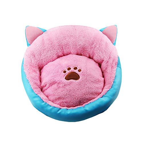 Cama de gatos para gatos y perros pequeños, cómoda cama mullida para mascotas sofá redondo nido para gatos y perros