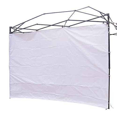NINAT Canopy Sunwall 10 ft Sunshade Privacy Panel for Gazebos Tent Waterproof, Sun Wall for Straight Leg Gazebos,1 Pack Sidewall Only, White