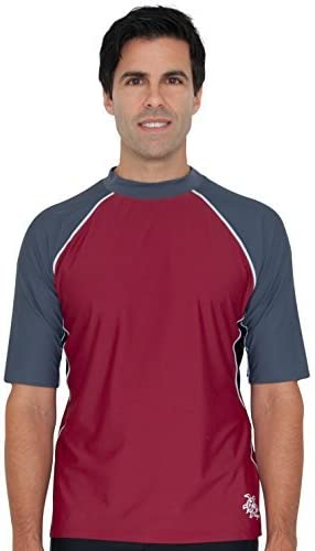 Tuga Men's Short Sleeve Rash Guard, UPF 50+ Sun Protection