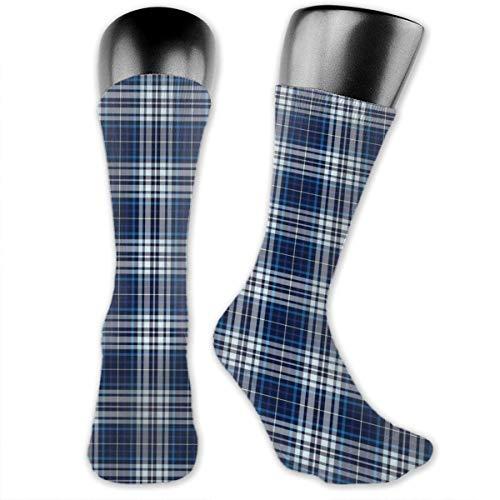 Papalikz Compression Medium Calf Socks,Abstract Lines Overlapped Geometric Motifs Illustration