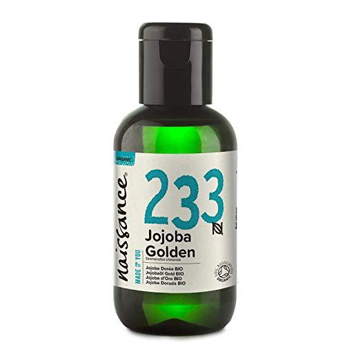 Naissance Aceite Vegetal de Jojoba Dorada BIO 60ml - 100% puro, virgen, prensado en frío,...