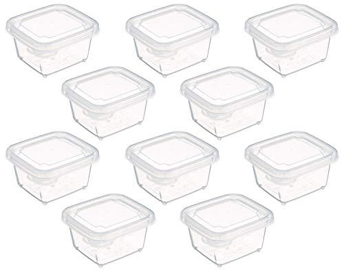 スケーター 離乳食 保存容器 ミニミニ シール容器 10個セット (5個×2) 小分け容器 保存容器 レンジOK 60ml MMS2