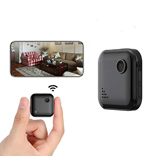 YIUAEVL Mini Spy Camera WiFi Wireless 1080P HD Security Camera Indoor/Night Vision/Motion Detection, with Audio and Video Recording, Security Nanny Camera for Live Remote View for Home