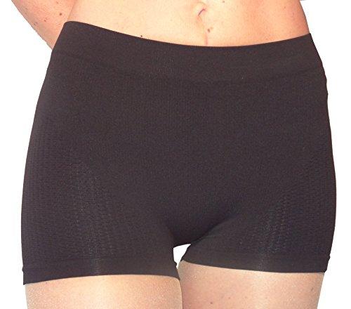 Cellulite Minceur Mini Short avec Passive Massage Anti-Cellulite avec Argent - Noir Taille M