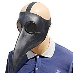 100% Brand New and High Quality! - One Size Fits Most Adult Heads! Plague Doctor Bird Mask see through the glasses and there, tear off the film to make the sight clear Ventilation holes are also designed to make wearers more comfortable to wear. You ...