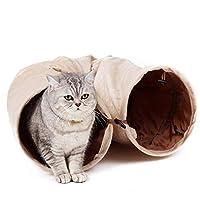 キャットトンネル 猫トンネル キャット玩具 スエード 2穴