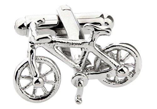 MRCUFF Bike Bicycle Cycling Cyclists Pair Cufflinks in a Presentation Gift Box & Polishing Cloth