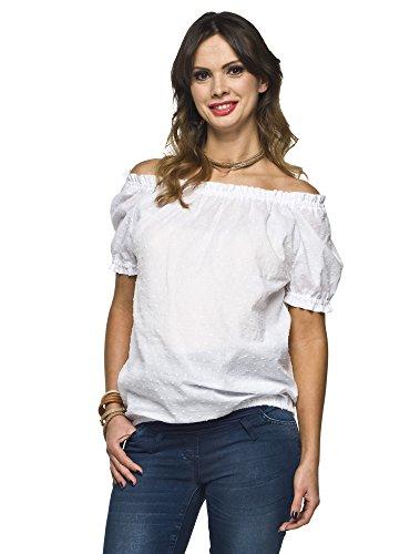 Elegante y cómoda blusa Carmen Carmen Modelo Boho Blanco S