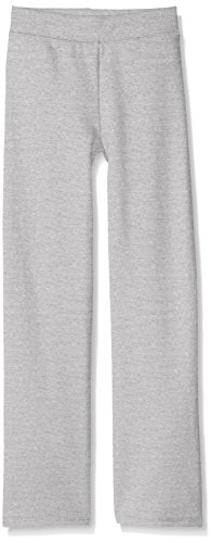Hanes Girls' Big Girls' Comfortsoft Ecosmart Open Bottom Fleece Sweatpant, Light Steel, M