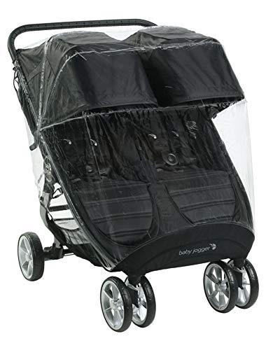Baby Jogger Zwillingswagen-Wetterschutz und -Regenschutz | für City Mini2 Double und City Mini GT2 Double | hält Regen, Schnee und Wind ab