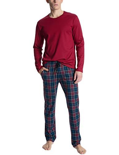 CALIDA Herren Family & Friends Zweiteiliger Schlafanzug, Rot (Umba Red 159), Small (Herstellergröße: S)