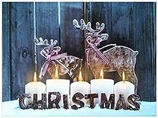 Led Light up Christmas Canvas Pictures 30cm X 40cm Xmas Picture